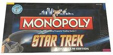 New TV Show Monopoly Star Trek Continuum Edition Collectible Tokens Board Game