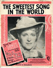 SHEET MUSIC -  THE SWEETEST SONG IN THE WORLD  - GRACIE FIELDS FILM SONG (1938)
