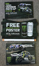 MONSTER Energy Drink Display w/MOTO GT JORGE LORENZO,VALENTINO ROSSI Posters
