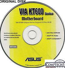 ASUS GENUINE VINTAGE ORIGINAL DISK FOR A7V600-X & A7V600 Motherboard Disk M506