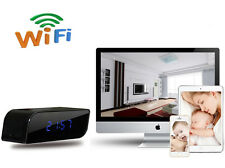 HD 1080P Alarm Clock Hidden Spy P2P WiFi IP Camera, Mains Operated H.264 CAM