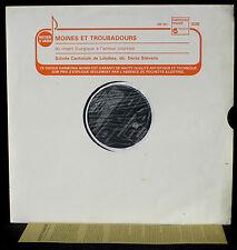 Moines et troubadours Schola Cantorum, Londres Denis Stevens HM 441 LP NM, CV EX
