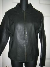 GAP BLACK LEATHER JACKET.SIZE M