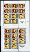 NETHERLANDS 1966 CHILD WELFARE MINIATURE SHEETS x 2 CROSS + COLOUR BARS UM MINT