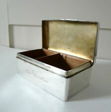 A VERY LARGE LATE VICTORIAN STERLING SILVER CIGAR BOX WITH SOLID LID c.1898