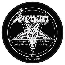 VENOM - Patch Aufnäher In league with satan rund 9x9cm