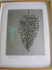 LARGE, FRAMED, ORIGINAL, SIGNED DALE CHIHULY DRAWING - LITHO CRAYONS