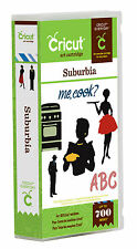 CRICUT *SUBURBIA* SHAPE & FONT CARTRIDGE *50's 60's RETRO THEME SILHOUETTES* NEW