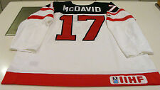 Canada 2015 World Juniors Hockey Jersey IIHF 100th Anniversary Connor McDavid XL