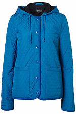New TOPSHOP hooded quiklted jacket UK 8 in Bright Blue