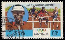 """KENYA 60 (SG61) - Montreal Olympics """"Aki Bua, Ugandan Hurdler"""" (pa85446)"""