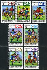 Maldives 516-522, 523 S/S, MNH. World Cup Soccer Championships, Munich, 1974