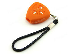 Orange Silicone Protective Case Cover Holder For Toyota 3 Button 3B Remote Key 4