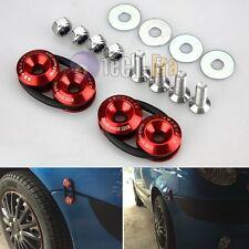 JDM Quick Release Car Bumper Fender Trunk Hatch Lid Aluminum Fastener Kit Red