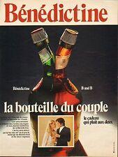 Publicité Advertising  ... bénédictine ......
