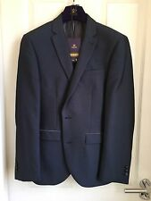 MEN'S/BOYS' SLIM FIT BLUE SUIT BY NEXT JACKET 38 TROUSERS 32 BNWT PROM/INTERVIEW
