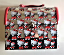 VINTAGE SANRIO HELLO KITTY STEEL DOME LUNCH BOX /PURSE RARE