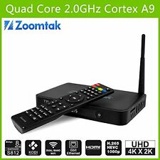 ZOOMTAK T8 PLUS S812 16GB ALLUMINUIM QUAD-CORE ANDROID SMART TV BOX 4.4-4K