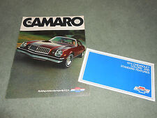 1974 CHEVROLET CAMARO 12 p. CATALOG + '74 CHEVY PAINT COLOR CHIPS BROCHURE, MORE