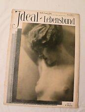 "1928, ""Ideal Lebensbund"" German Magazine ""Ideal Life"" NUDE MAGAZINE, MARRIAGE VG"