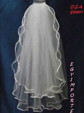 New 2 Tier White communion bridal wedding veil *Free shipping*