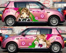 Set Cute Manga Anime Girl Lovely Full Color Car Graphics Decal Vinyl Sticker