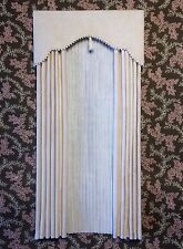 Cream  Dollhouse Curtains with Cream Satiny Semi - Sheers -1:12 scale