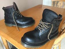 Vintage Dr Martens 8283 black leather boots UK 7 EU 41 hiking walking England,