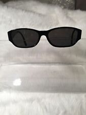 Vintage Chanel Black Sunglasses Crystal CC Logo RX Frames Chanel Glasses