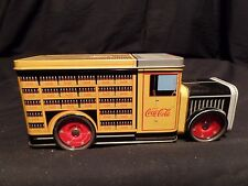 Coca Cola Delivery Truck w/t Metal Moving Wheels Collectible Tin Rare Find