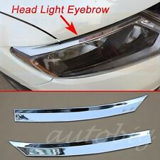 Head Light Eyebrow For Nissan Rogue X-Trail 2014-2016 Cover Chrome Lamp Trim
