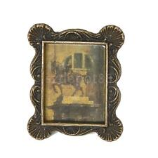 Vintage Dollhouse Miniature Copper Picture Photo Frame Ornament Accessory