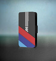 BMW M Power Car Automobile iPhone Samsung Faux Leather Flip Case Cover Wallet 44