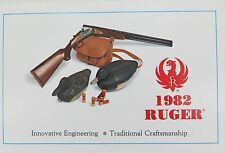 1982 RUGER FIREARMS 16 PAGE GLOSS COLOUR CATALOGUE. NEW OLD STOCK. MINT !