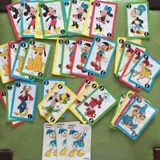 VTG 1949 Walt Disney DONALD DUCK CARD GAME by Whitman No 2989~36 Cards/8 Missing