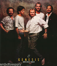 POSTER:MUSIC : GENESIS - PHIL COLLINS - 1986 INVISIBLE TOUR - FREE SHIP   LW12 H