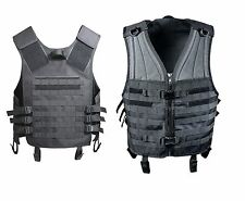MOLLE Compatible Modular Vest Heavyweight Airsoft Tactical Vests Black OD Brown