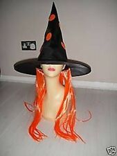 Halloween Witch Hat Orange Wig Fancy Dress Costume Gifts