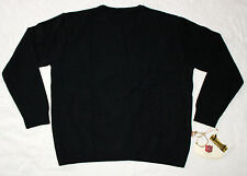 NWT ILIAC GOLF Black CREW NECK Sweater ORGANIC BAMBOO - Made in USA - Size XL