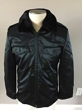 NWOT BLAUER POLICE EMS DUTY JACKET ZIP OUT LINER LINED FAUX FUR COLLAR 36R Black