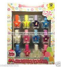 JUST 4 GIRLS* 12pc Gift Set NAIL POLISH Glitter+Pearlized STAR SHAPED Candy 2/2