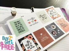 PP148 -- Small Inspirational Quote Life Planner Stickers for Erin Condren (8pcs)