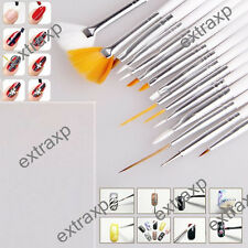 15PCS Nail Art UV Gel Design Painting Pen Brush Set for Salon Manicure DIY Tools
