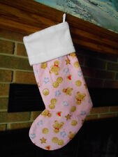 GINGERBREAD MEN HANDMADE CHRISTMAS STOCKING