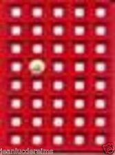 Plateau de rangement feutrine rouge clipsée (400 capsules) Lot de 10 plateaux