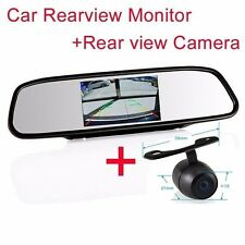 """4.3"""" Screen TFT best LCD Rearview DVD Mirror Monitor+backup camera For Chevrolet"""