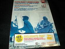 """DVD + CD NF """"FESTIVAL GNAOUA ET MUSIQUES DU MONDE - 15 ANS FESTIVAL D'ESSAOUIRA"""""""