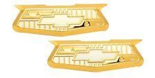 1955-56 Chevy Bel Air Gold Crest Emblems, pair