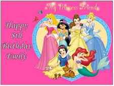 Disney Princess A4 Personalizzato Decorazioni Per Torte Commestibile