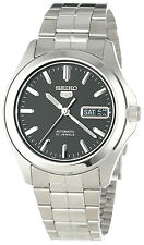 SEIKO MEN AUTOMATIC SEE THROUGH BLACK DIAL STEEL WATCH SNKK93 SNKK93K1